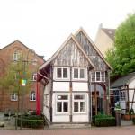 Das Museumscafé vom Kolbeplatz aus gesehen