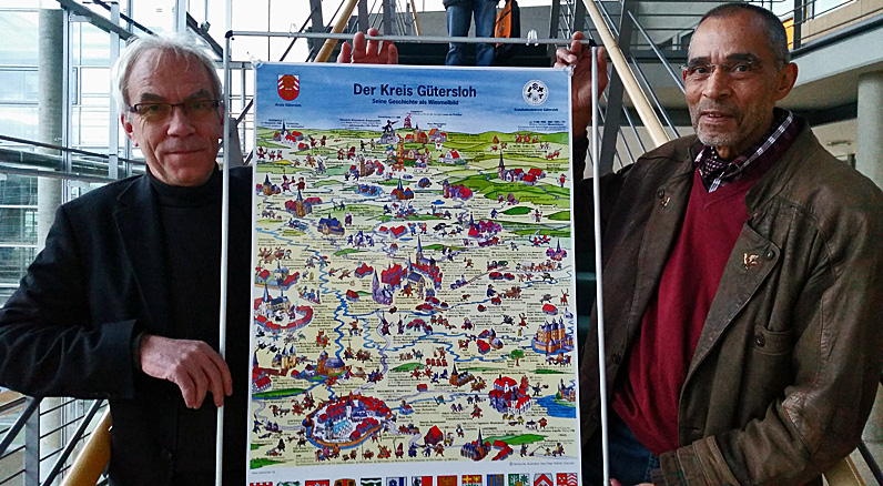 Wimmelposter-Präsentation im Kreishaus Gütersloh