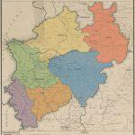 Karte der Regierungsbezirke und Kreise in NRW 1947